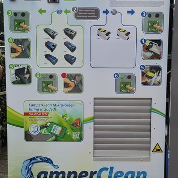 Camperclean cleaning device at Isolino